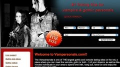 Вампирите и готик персонажите на вашите мечти ви чакат на Vampersonals.com