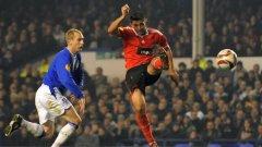 Оскар Кардосо от Бенфика вкара общо три гола на Евертън в групата и сега се заканва на Олимпик (М)