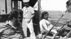 Че Гевара и Фидел Кастро ловят риба, 1960-та година
