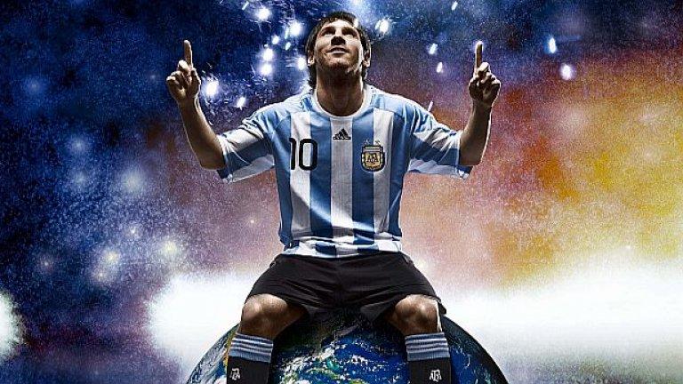 """Двукратният носител на """"Златната топка"""" Лионел Меси отново е голямата надежда на Аржентина за трофей"""