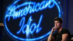 Саймън Коуъл в първия сезон на American Idol през 2002 г.