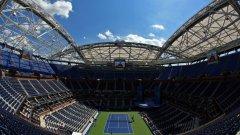 Покривът е готов да се разстели над централния корт. US Open има нова физиономия с него.