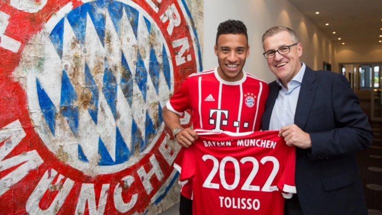 Байерн привлече Толисо за 41,5 млн. евро от Лион