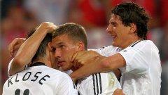 Клозе, Подолски и Гомес - тези тримата много трудно ще ги видим отново едновременно в игра...