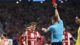 Гризман с неприятен антирекорд след червения картон срещу Ливърпул
