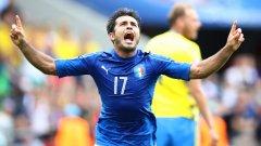 Едер донесе успеха за Италия две минути преди края на редовното време