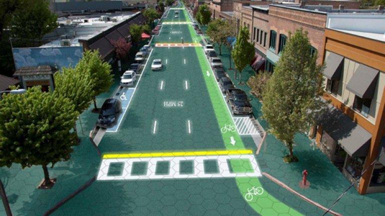 Така би изглеждал Сендпойнт, Айдахо - домът на избретателите, ако започнат да се строят соларни пътища