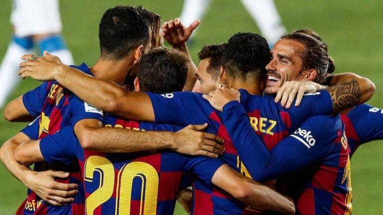 Триото Меси-Суарес-Гризман остави Барселона в играта
