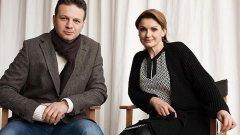 Две двойки водещи на новините по Нова: Ани Салич и Николай Дойнов и Даниела Тренчева и Христо Калоферов