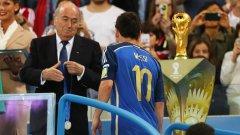 Сеп Блатер остави Аржентина извън фаворитите за трофея