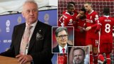 Председателят на Английската футболна лига Рик Пери (вляво) вече открито подкрепи проекта, с който Ливърпул и Манчестър Юнайтед искат да реформират футбола на Острова