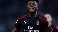 Кеси се радва на щастливия гол, с който Милан откри резултата