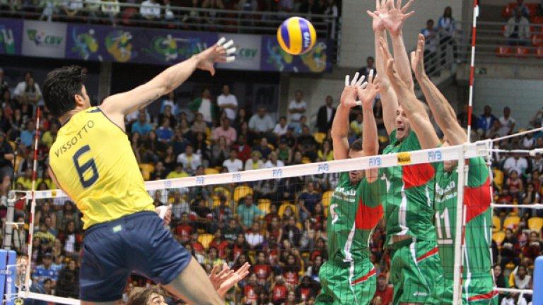Двете загуби от Бразилия поставипа под съмнение участието ни на финалите в Световната лига