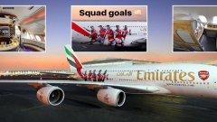 Една виртуална разходка на борда на Emirates Airbus A380...