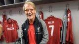 """Пол Уолш в съблекалнята на Ливърпул преди мач на ветераните между """"червените"""" и Борусия Дортмунд през 2018 година"""