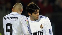 Бразилецът Кака изигра първите си 19 минути за Реал (Мадрид) след дълга пауза, в която лекуваше контузия
