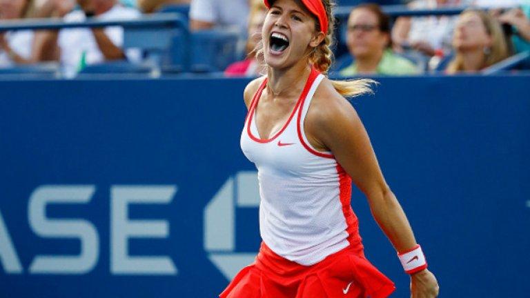 5. Южени Бушар – достигна полуфиналите на три от четирите турнира от Големия шлем, Бушар завърши годината с леки скандали, но остава една от най-обичаните тенисистки.