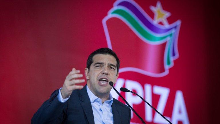 Лидерът на крайната левица СИРИЗА Алексис Цапрас