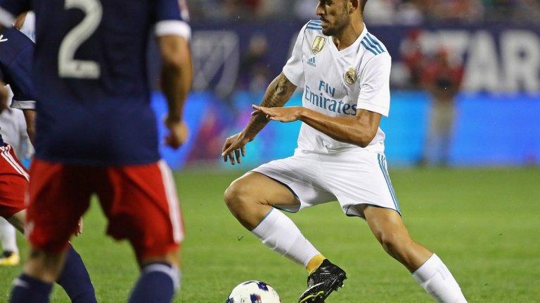 """Дани Себайос Второто """"дете"""", което Реал прибра това лято. Пристигна от Бетис срещу 16,5 млн. евро. Блесна още с първите си мачове, като вече има и два гола на сметката си."""
