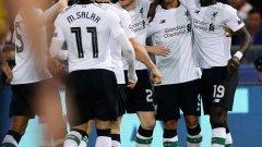 Мане и Фирмино са отговорниците за първия гол на Ливърпул, който обаче май твърде много успокои отбора