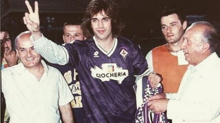 Фиорентина представя новото си попълнение Габриел Батистута през 1991 година. След това Батигол щеше да изиграе 318 мача по италианските терени, отбелязвайки общо 183 гола още за Интер и Рома в Калчото и още 25 за Купата на Италия.