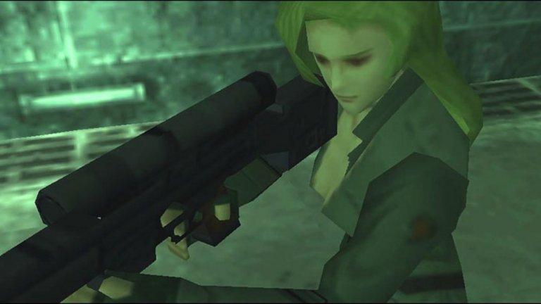 """Sniper Wolf (Metal Gear Solid)  """"Родена съм на бойното поле. Отгледана съм на бойното поле. Стрелба, сирени и писъци... това бяха моите приспивни песнички"""". Откровението е на Sniper Wolf - жена-снайперист и един от босовете в PlayStation класиката Metal Gear Solid от 1998 г. Тя обича да създава почти перверзна емоционална връзка с жертвите си преди да ги убие. Sniper Wolf е пристрастена към диазепам, което й помага да бъде още по-точна в прицелването. Като истинска съвременна амазонка, тя не таи положителни чувства към мъжете и твърди, че жените са по-добри бойци от тях. Sniper Wolf дори се подиграва на главния герой Снейк за това, че е пример за """"слабите мъже, които никога не довършват това, което са започнали""""."""