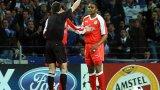Печалният и най-запомнящ се момент от кариерата на Андраде - когато получава червения си картон от Маркус Мерк в реванша срещу Порто от Шампионската лига