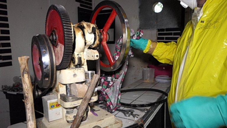 Нарколабораторията се намира в бивша фабрика за пилешки продукти