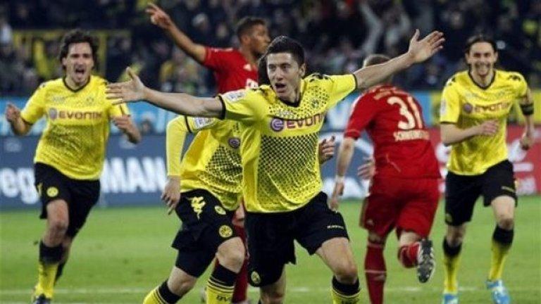 Снощи Левандовски зарадва феновете на Борусия с 4 гола срещу Реал