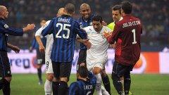 По принцип Лацио и Интер са в приятелски отношения, но мачът в неделя е с огромен залог и сигурно ще изобилства от подобни сцени