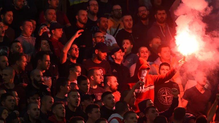 Навиячите на Партизан и Звезда отново създадоха прекрасна атмосфера.