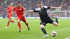 Де Бройне дебютира за националния отбор на Белгия едва 19-годишен. Това става по време на контролата с Финландия в Турку през 2010 г.