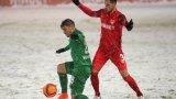 Царско село измъкна точка от шампиона в софийския сняг