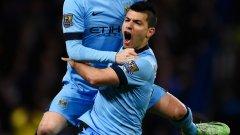 Един от най-активните в отбора на Сити Давид Силва вкара третия гол за победата