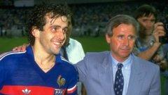 Платини и Идалго в славните времена на големия френски отбор от 80-те