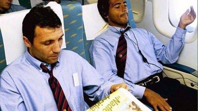 Класика от Барселона – Христо Стоичков и Ромарио изтупани в костюми и вратовръзки.