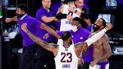 В памет на Кобе: Лейкърс стигна до първа титла в НБА от 2010-а насам