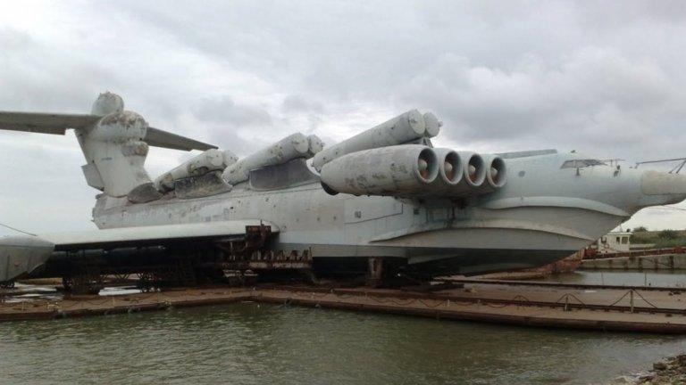 МД-160 е ненадминат по размерите си екраноплан, част от съветска военна програма
