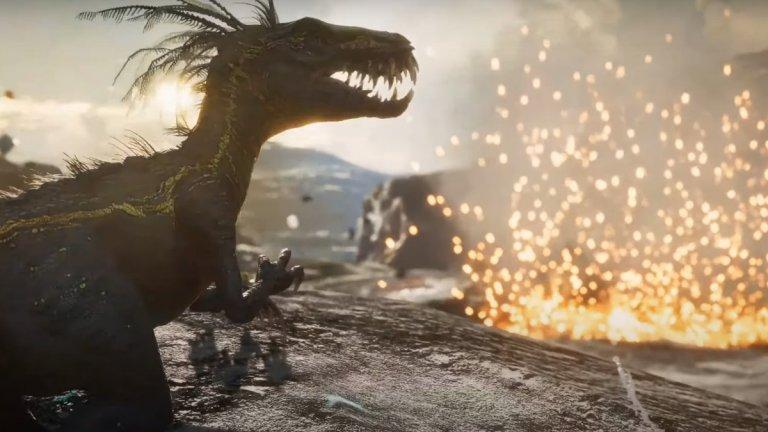 """Second Extinction  """"Зли динозаври-мутанти превземат планетата"""" - това е златното изречение в основата на тази игра, което ни връща години назад и обещава добре прекарано време. Second Extinction е екшън от първо лице, в който заедно с приятели ще можете да заличите динозаврите отново от лицето на Земята. Историята гласи, че след появата на гигантските хищници, част от човеството е успяла да избяга в станция в орбита, където да подготви своето отмъщение. А именно играчът поема ролята на един от тези анти-дино отмъстители."""