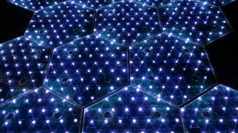 LED светлини, активирани в соларен панел