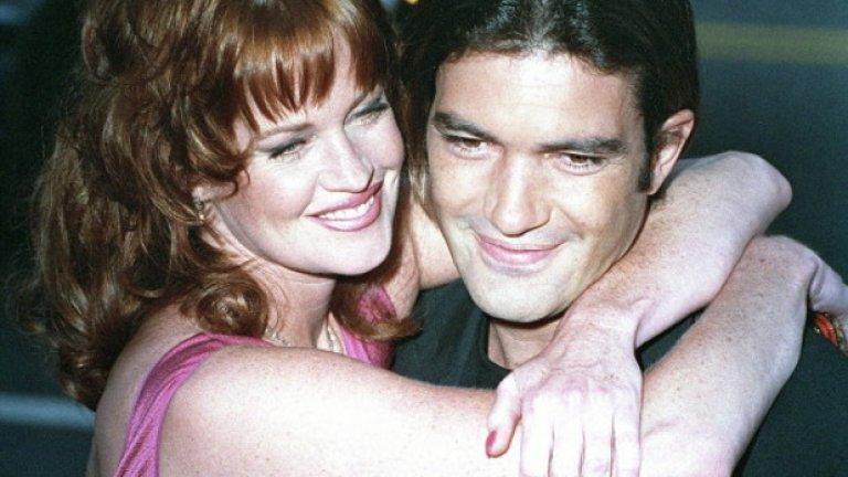 """21-ви август 1995-та - по време на премиерата на """"Десперадо"""" в Ел Ей - Мелани Грифит и Антонио Бандерас вече са двойка"""