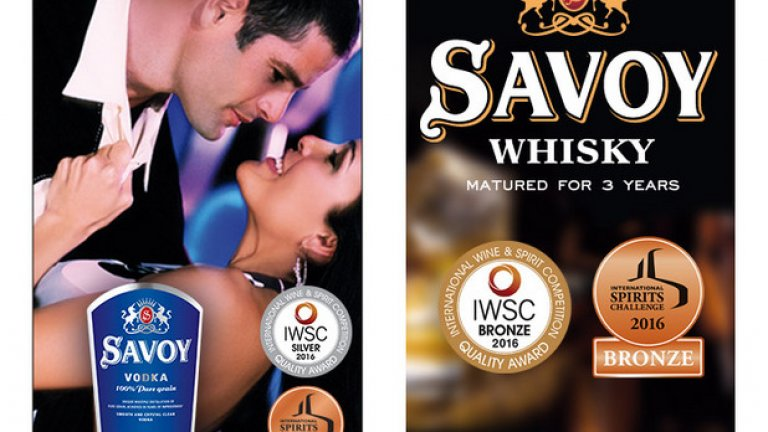 International Spirits Challenge и International Wine and Spirits Competition потвърдиха присъствието на водка Savoy сред най-добрите световни брандове