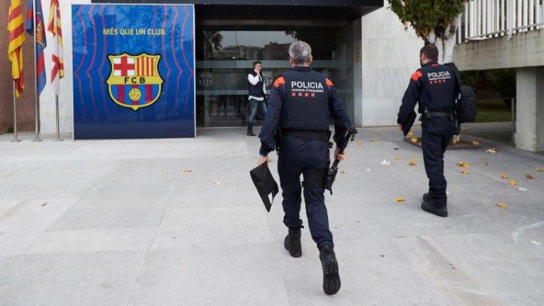 Седмицата за Барселона започна с полиция в офисите на клуба