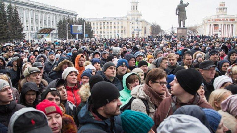 Президентът Путин е на посещение в сибирския град