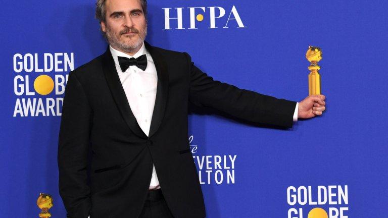 """Хоакин Финикс за сметка на това получи заслужена награда за """"Най-добра мъжка роля"""" в драматичен филм заради изпълнението си в """"Жокера"""""""