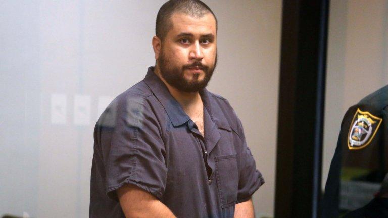 Джордж Цимерман по време на процеса за убийството на Трейвон Мартин