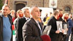 От ВМРО са против отпадането на ограниченията за изборните секции извън страната и излязоха на протест