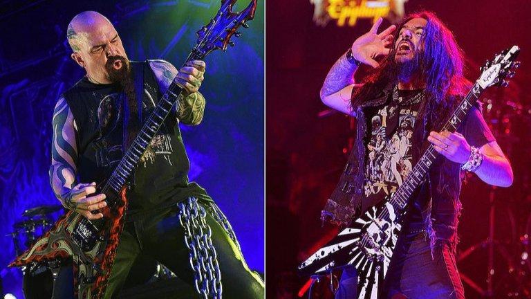 """Кери Кинг срещу Роб Флин  Китаристът на Slayer и фронтменът на Machine Head влязоха в препирня в публичен форум през 2001 г., която прерасна в дълго продължила вражда. Кери Кинг определи Machine Head като """"продажници"""", когато говореше за техния албум Supercharger и обясни, че бандата не прави истински метъл. Последваха шест години на разменени обидни реплики, като в единия случай Флин отсече, че Кери Кинг прилича на член на групата Right Said Fred, известна с гей химна I'm Too Sexy. Все пак през 2007-а Кинг и Флин заровиха томахавките."""
