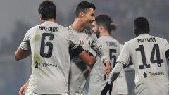 Роналдо се разписа за 2:0. Кедира и Пянич отбелязаха съответно първия и третия гол за торинци.