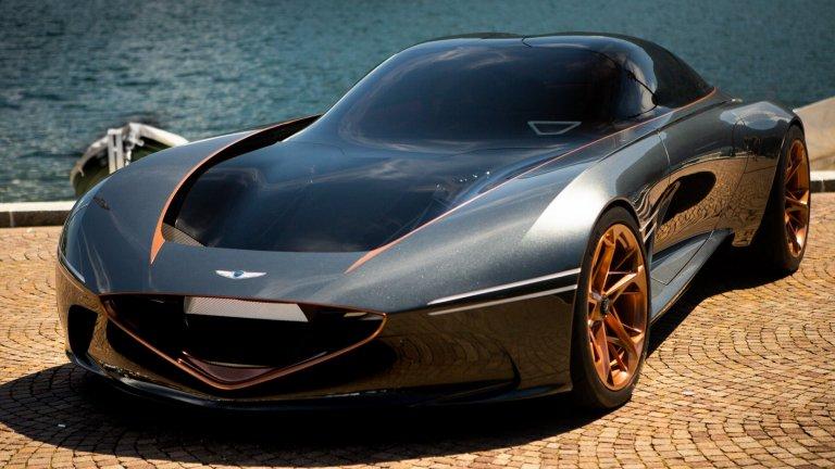 Genesis EssentiaЗа момента Essentia е на ниво концепция, но от Genesis планират да влезе в серийно производство през 2023 г. Тя е луксозен електрически седан, в който от Hyundai вече са инвестирали над 90 млн. долара. Останалото около електромобила за момента са слухове като това, че ще се хвали с 1900 конски сили и ще ускорява от 0 до 100 км/ч за три секунди.